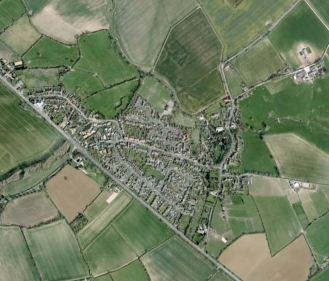 Aerial view of Potterspury